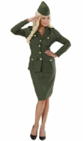 WW2 Soldier Girl Costume (7660)